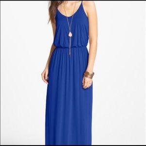 Lush Blue Maxi Dress